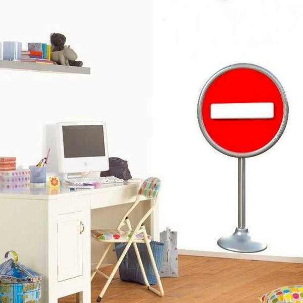 Stickers for Kids: Signal prohibited