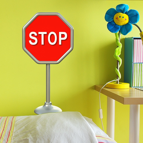 Stickers for Kids: Stop sign