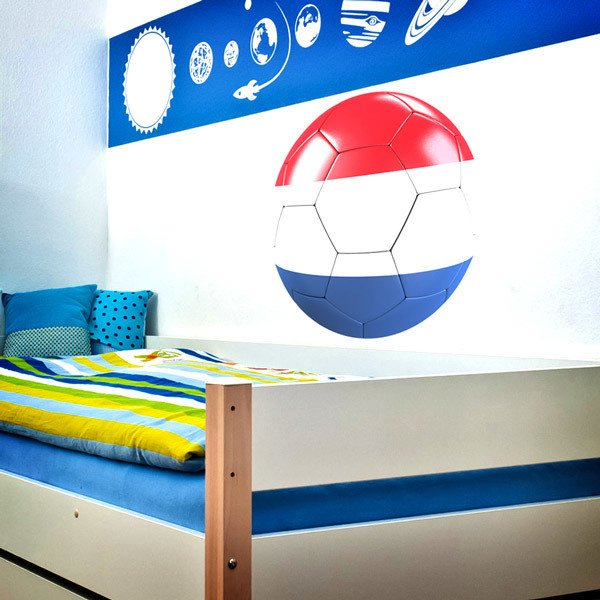 Stickers for Kids: Soccer ball flag of Holland