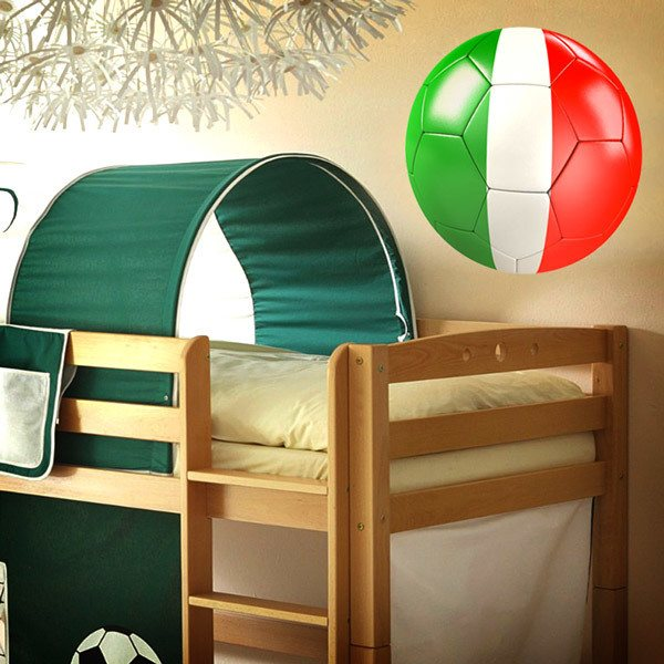 Stickers for Kids: Soccer Ball flag of Italy