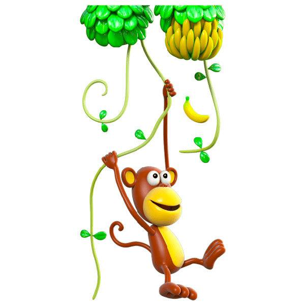 Stickers for Kids: Monkey climbing lianas