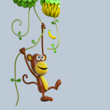 Stickers for Kids: Monkey climbing lianas 3