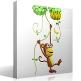 Stickers for Kids: Monkey climbing lianas 4