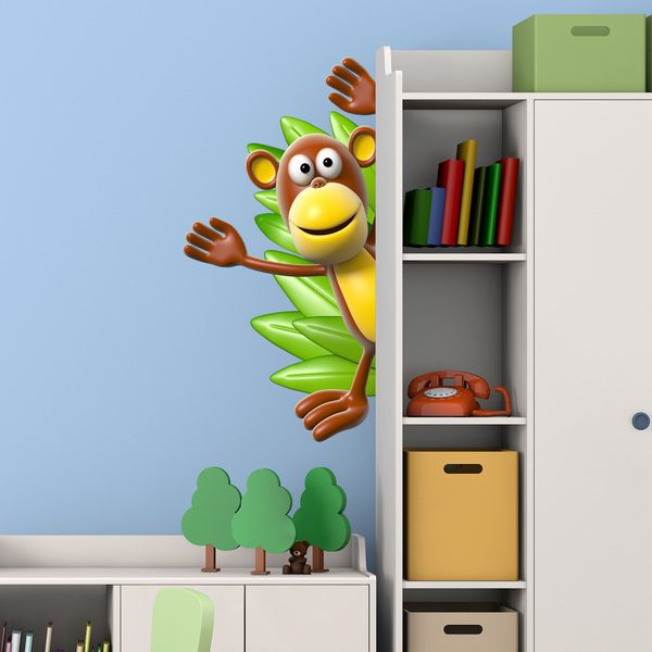 Stickers for Kids: Monkey saluting