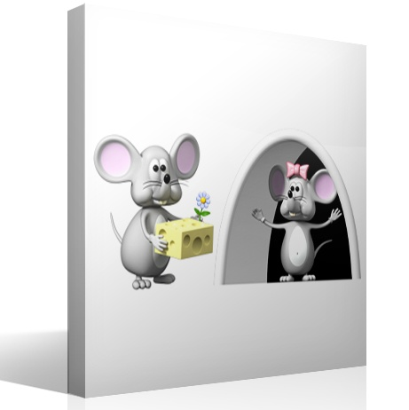 Stickers for Kids: The Perez Mouse and his wife