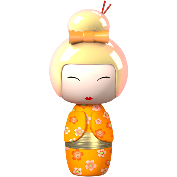 Stickers for Kids: Doll Kokeshi Hijioro