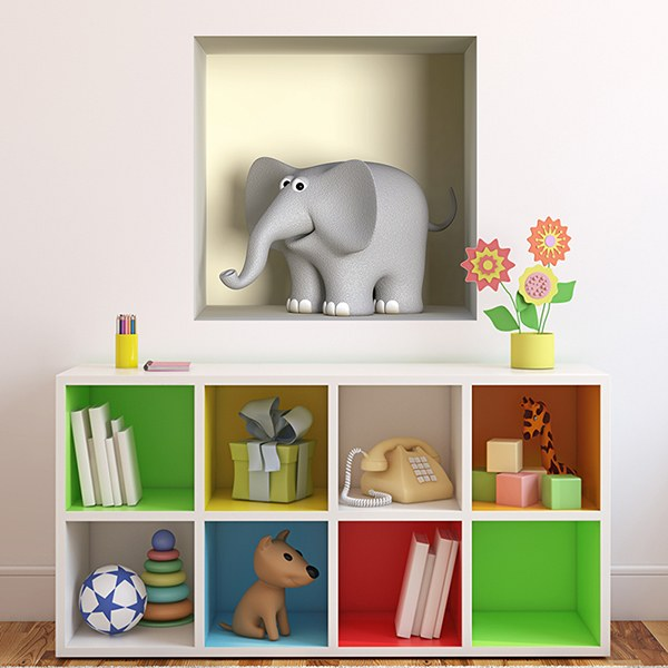 Wall Stickers: Niche Elephant