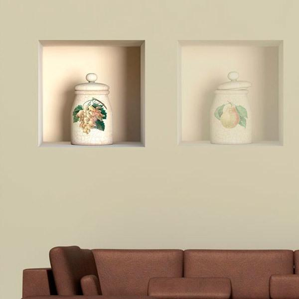 Wall Stickers: Niche classic ceramic jar 1