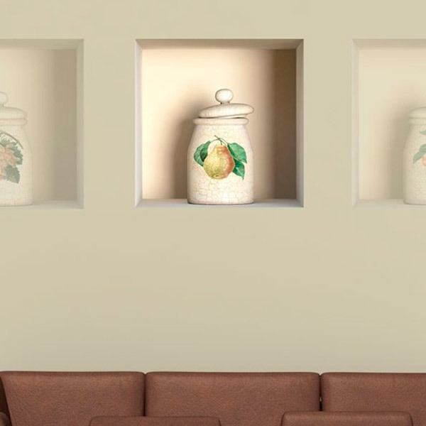 Wall Stickers: Niche classic ceramic jar 2
