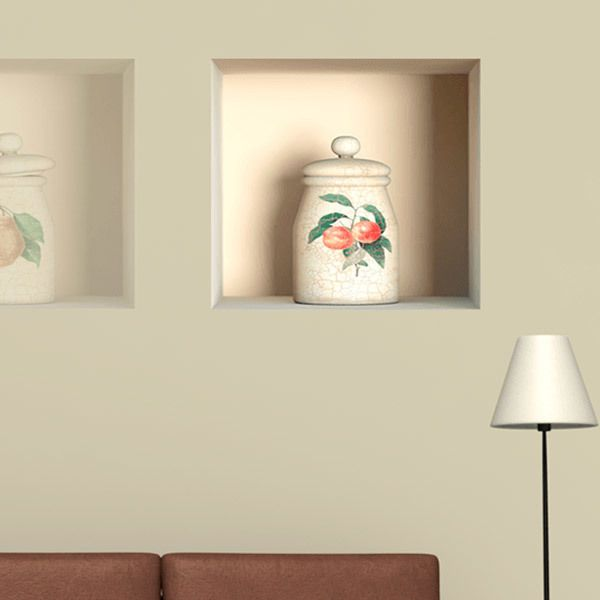 Wall Stickers: Niche classic ceramic jar 3
