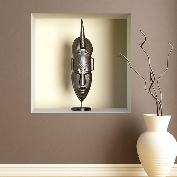 Wall Stickers: African mask niche 1