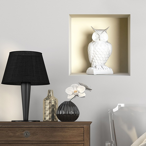 Wall Stickers: Statue of an Owl niche