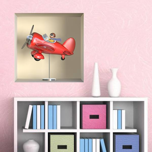 Wall Stickers: Niche red plane