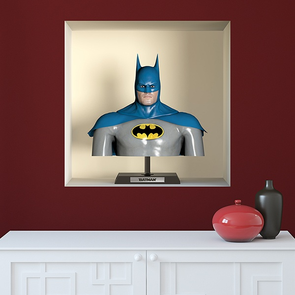 Wall Stickers: Niche with bust of Batman