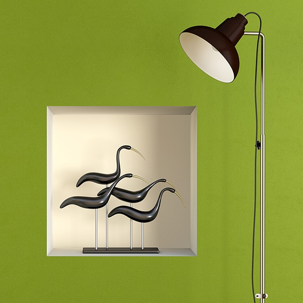 Wall Stickers: Birds sculpture niche