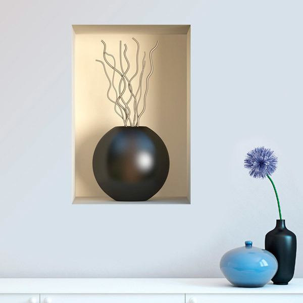 Wall Stickers: Black vase niche 4