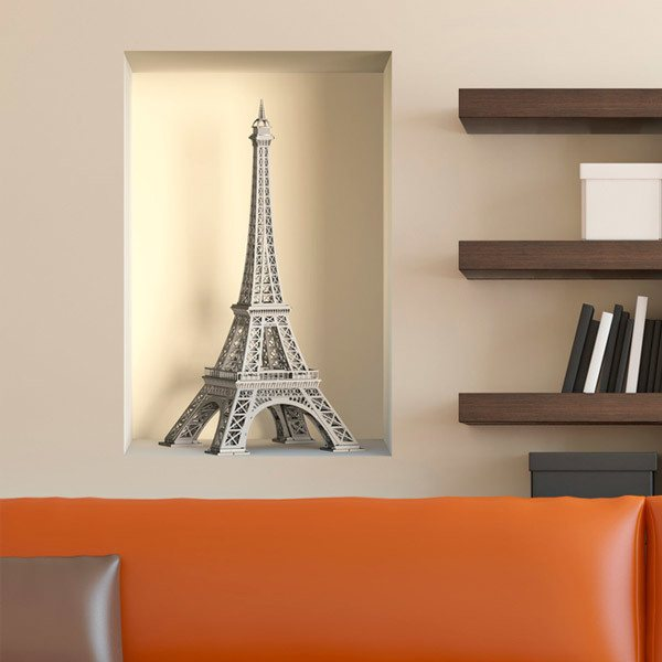 Wall Stickers: Eiffel Tower niche