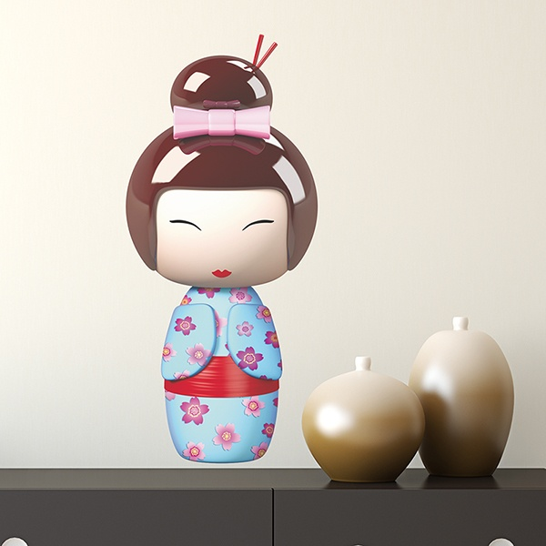 Stickers for Kids: Doll Kokeshi Sakunami