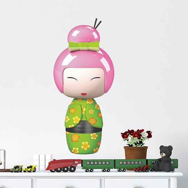 Stickers for Kids: Kokeshi Fumiko doll