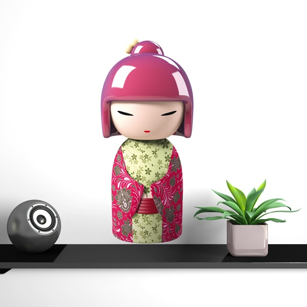 Stickers for Kids: Kokeshi Katsumi doll