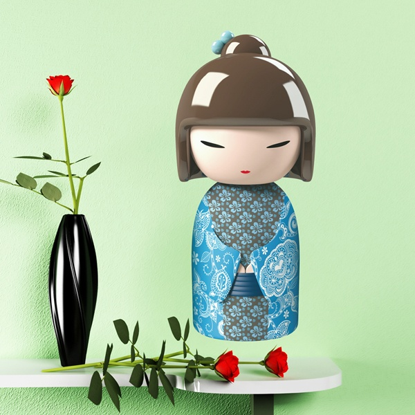 Stickers for Kids: Kokeshi Akira doll