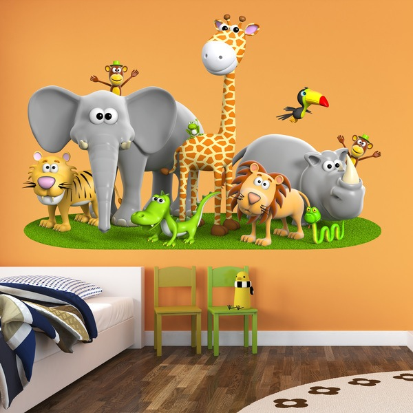 Stickers for Kids: Jungle animals