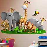 Stickers for Kids: Jungle Animals 3