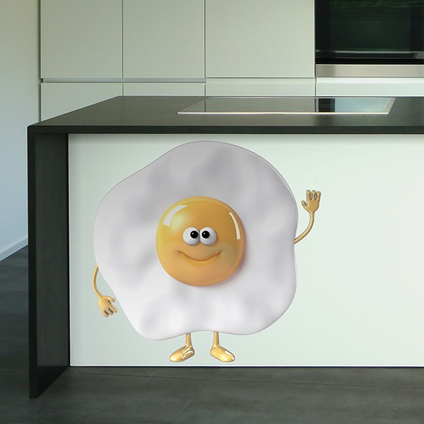 Stickers for Kids: Fried egg