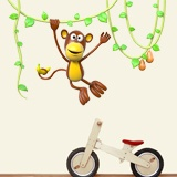 Stickers for Kids: Monkey jumping in the lianas 3