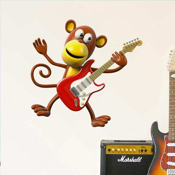 Stickers for Kids: Guitarist monkey