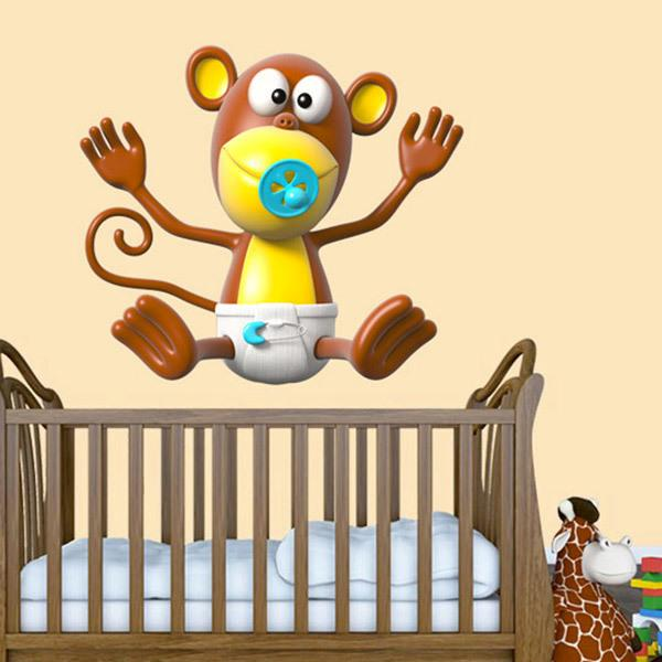 Stickers for Kids: Baby monkey