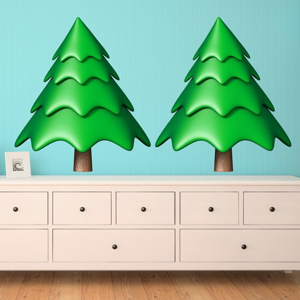 Wall Stickers: Kit 2 spruce or Christmas trees.