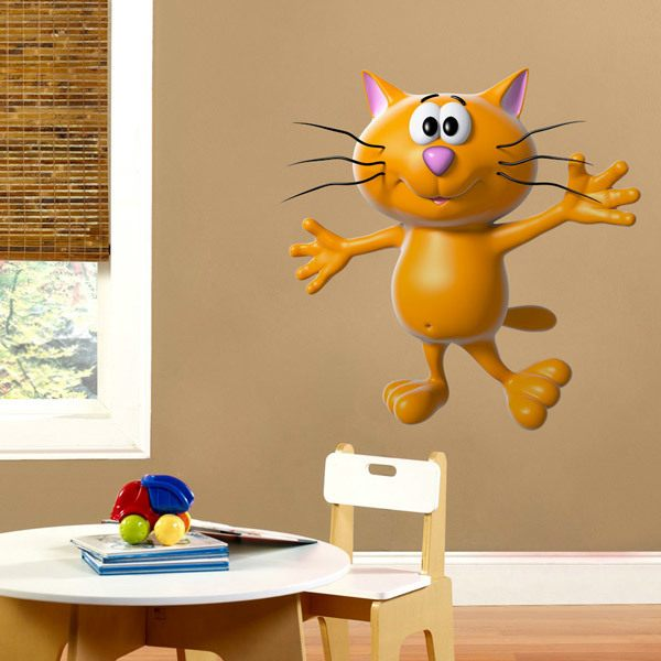 Stickers for Kids: Dancing cat