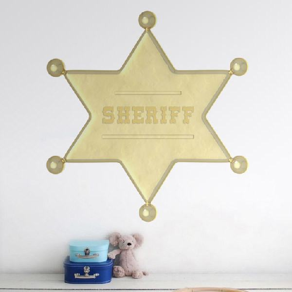 Stickers for Kids: Sheriff Star