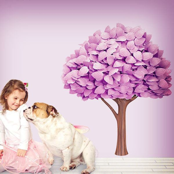 Stickers for Kids: Pink tree