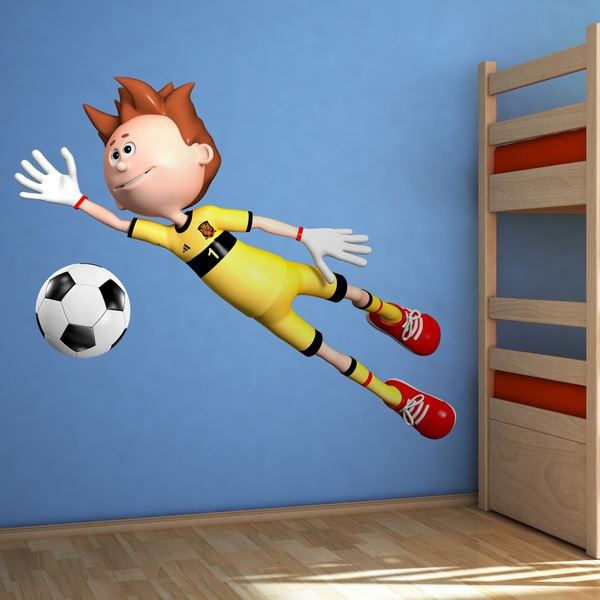 Stickers for Kids: Goalkeeper football of Spain