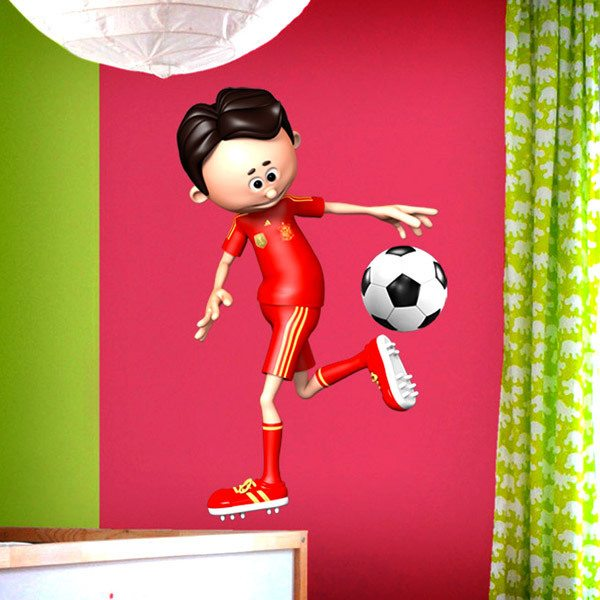 Stickers for Kids: Soccer player doing a heel
