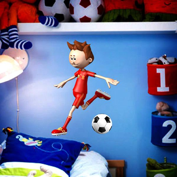 Wall Stickers: Soccer player making a shot