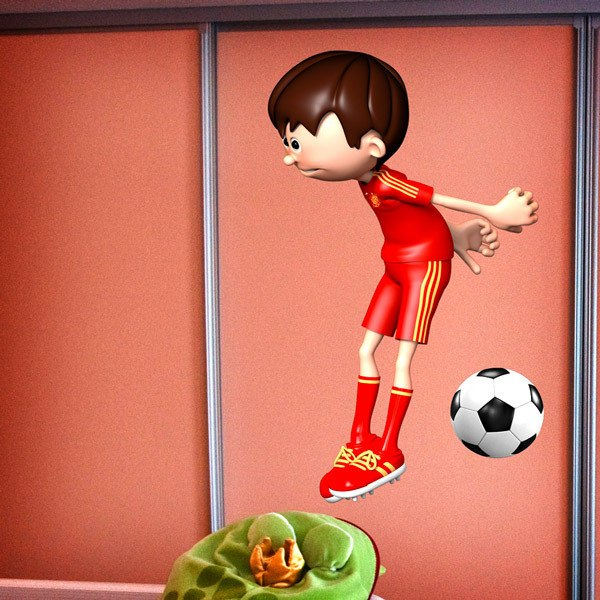 Stickers for Kids: Soccer player topped head