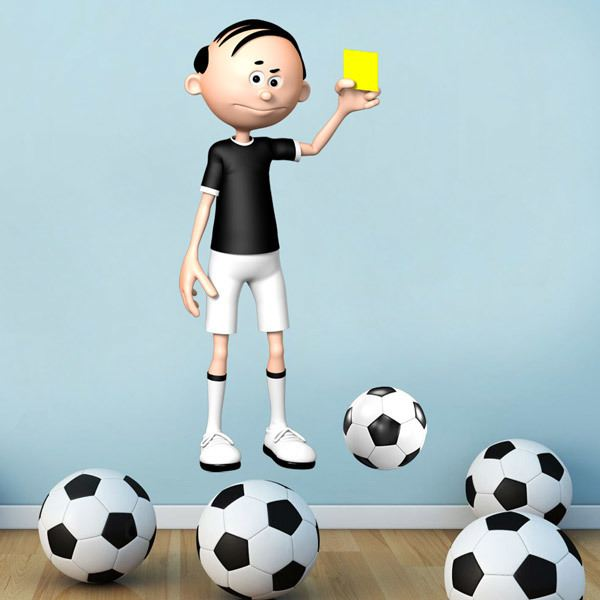 Wall Stickers: Soccer Referee