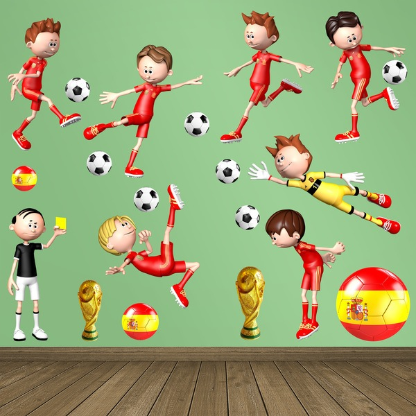 Stickers for Kids: Kit Spanish players