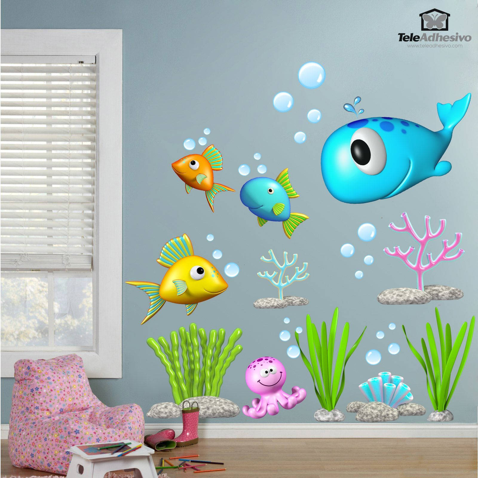 Stickers for Kids: Kit under the sea