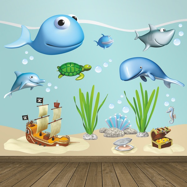 Stickers for Kids: Kit of animals on the seabed