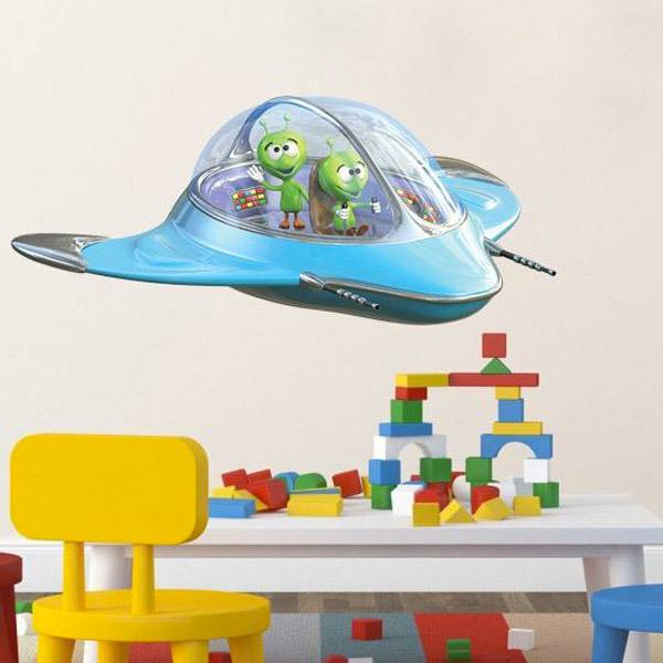 Stickers for Kids: Spacecraft with aliens