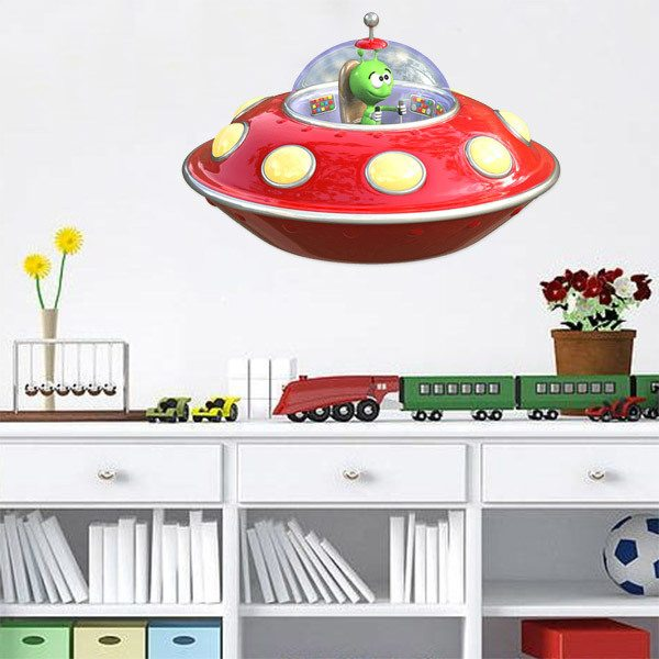 Stickers for Kids: Flying Saucer