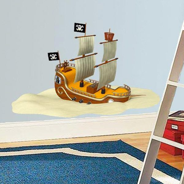 Stickers for Kids: Pirate Ship Aground