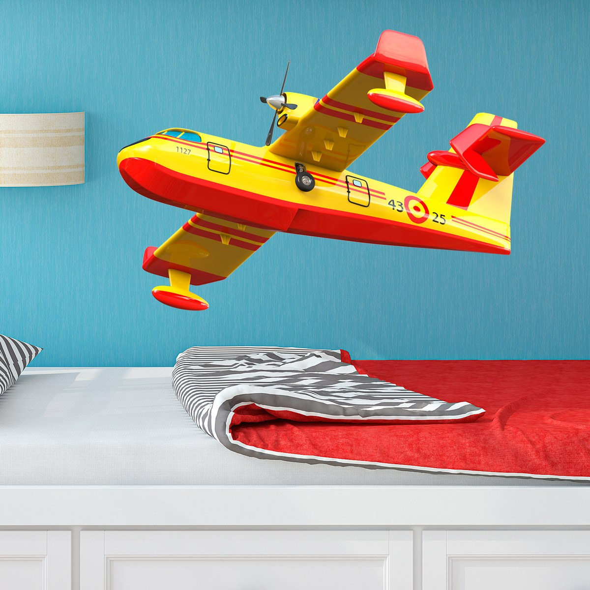 Stickers for Kids: Fire seaplane
