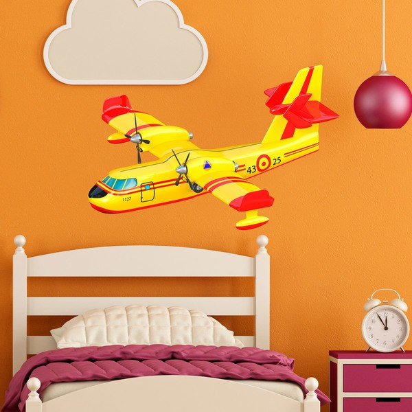 Stickers for Kids: Fire seaplane 2
