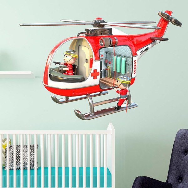 Stickers for Kids: Firefighter Helicopter