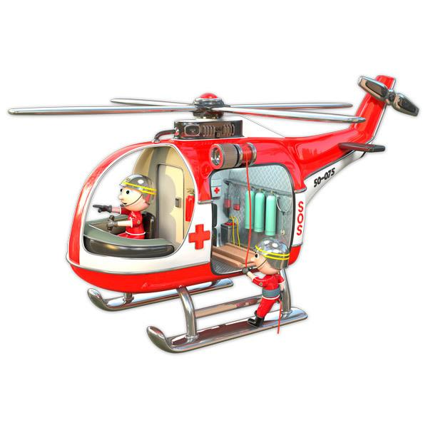 Stickers for Kids: Helicopter fire